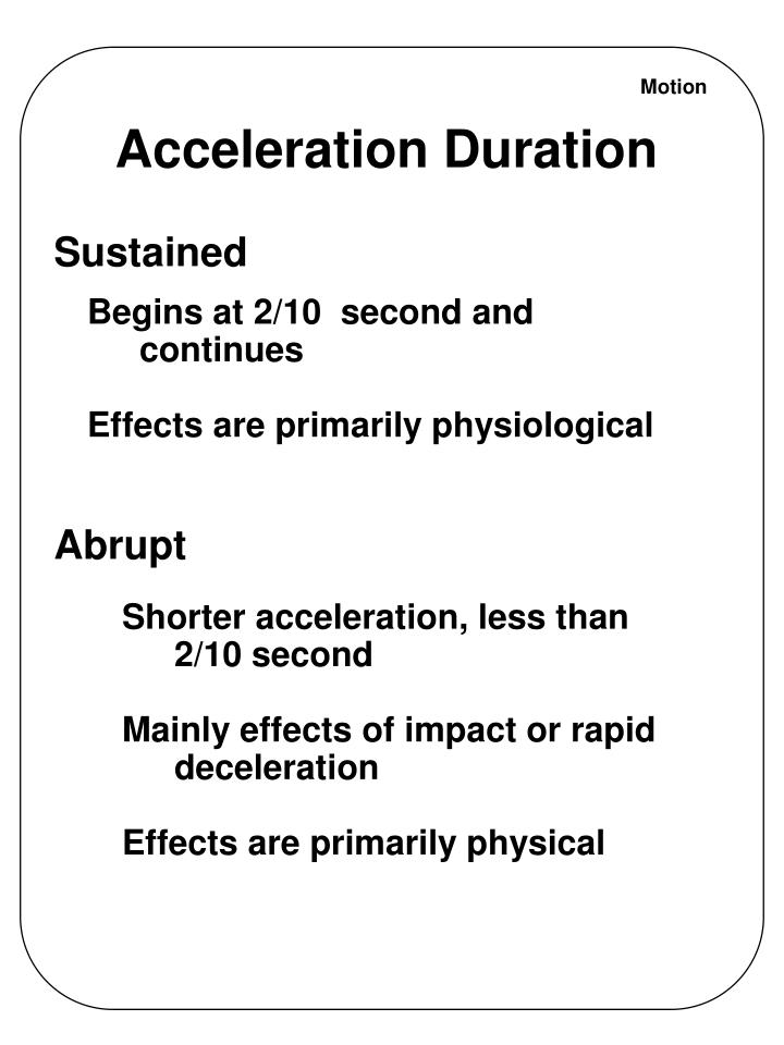 Acceleration Duration