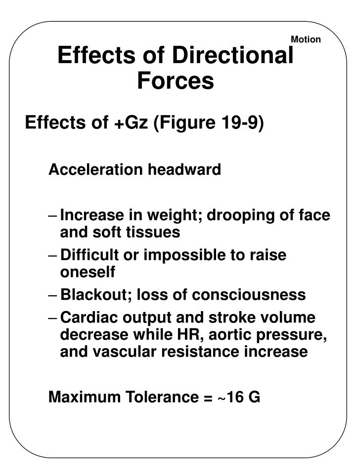Effects of Directional Forces