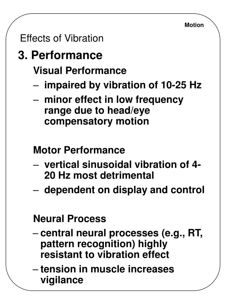 Effects of Vibration
