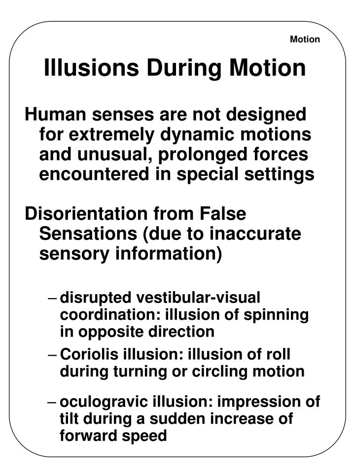 Illusions During Motion