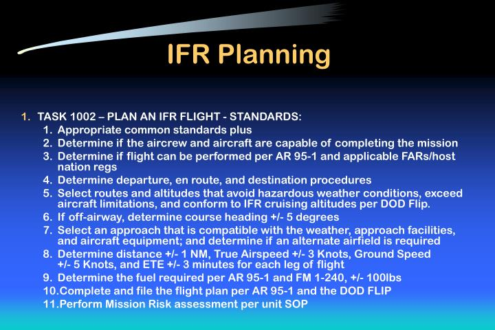 IFR Planning