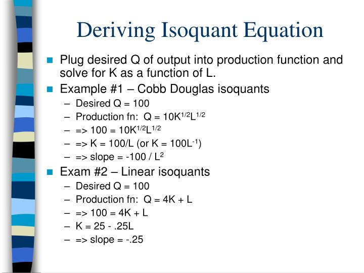 Deriving Isoquant Equation