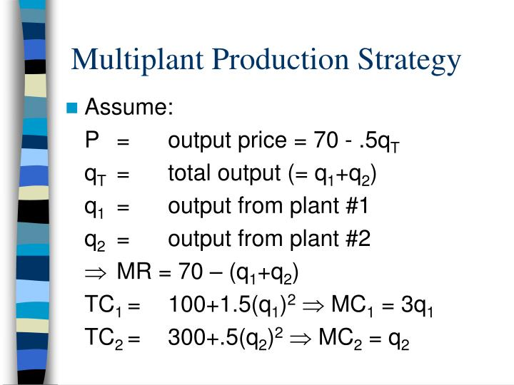 Multiplant Production Strategy