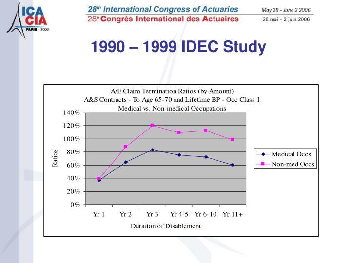 1990 – 1999 IDEC Study