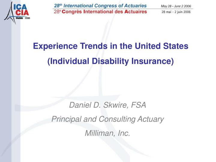 Experience Trends in the United States