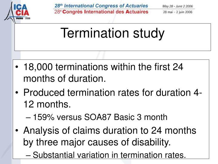 Termination study