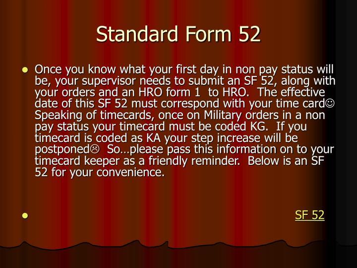 Standard Form 52