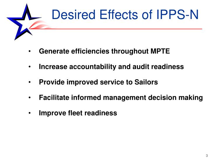 Desired Effects of IPPS-N