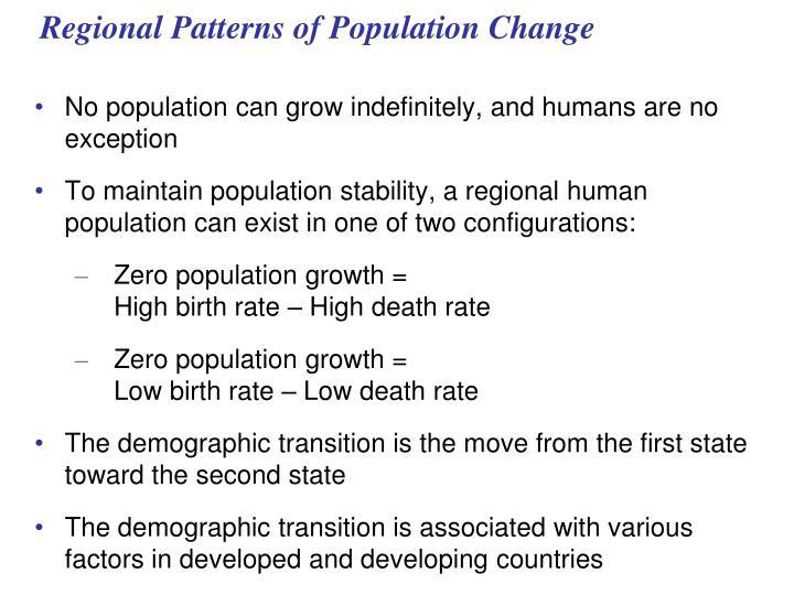 Regional Patterns of Population Change