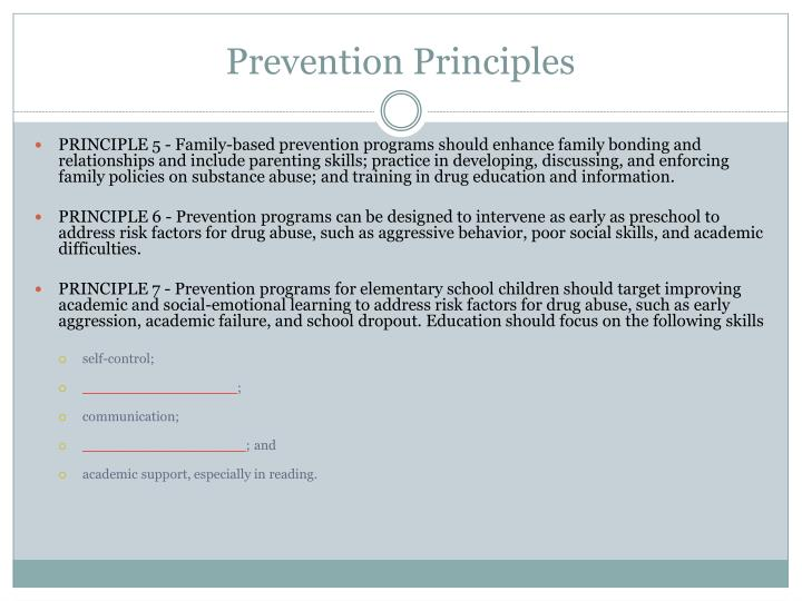 Prevention Principles