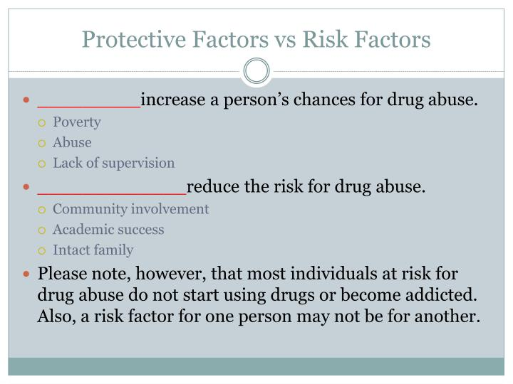 Protective Factors vs Risk Factors