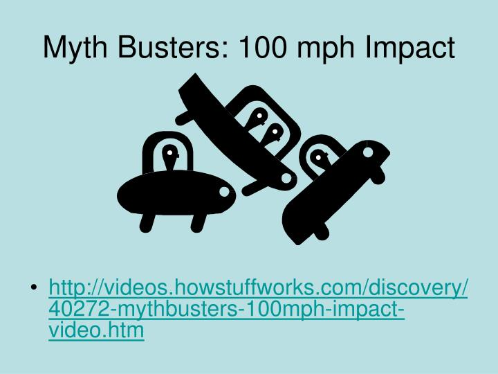 Myth Busters: 100 mph Impact