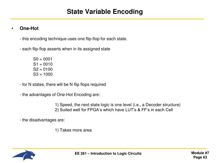 State Variable Encoding