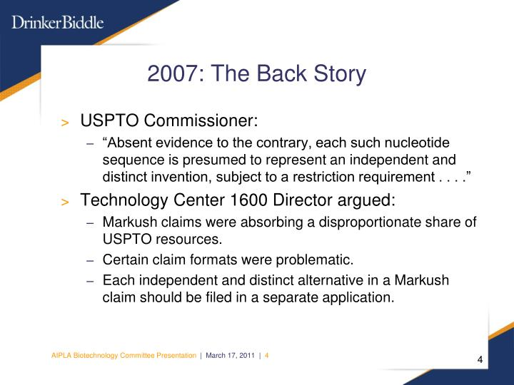 2007: The Back Story