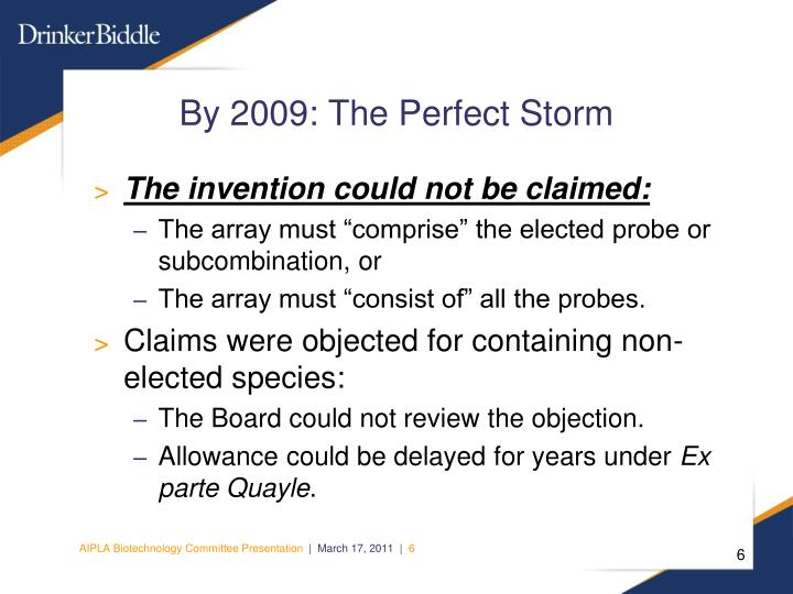 By 2009: The Perfect Storm