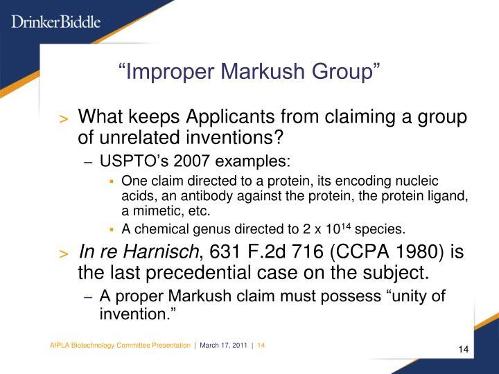 """Improper Markush Group"""