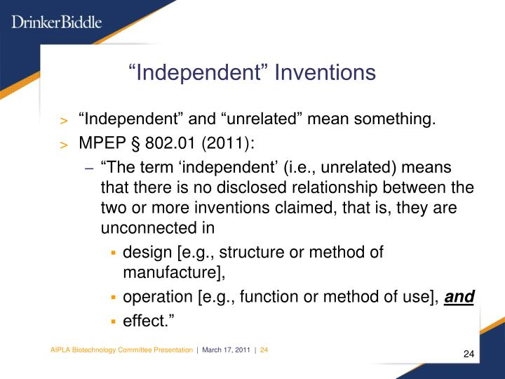 """""""Independent"""" Inventions"""