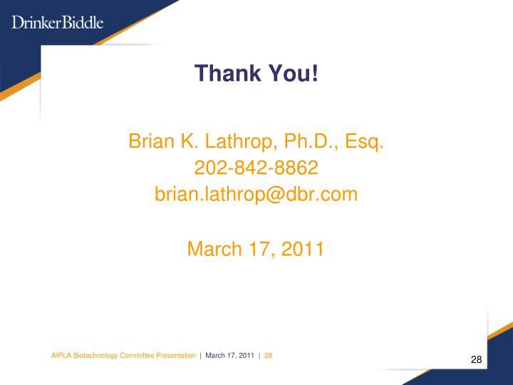 Brian K. Lathrop, Ph.D., Esq.