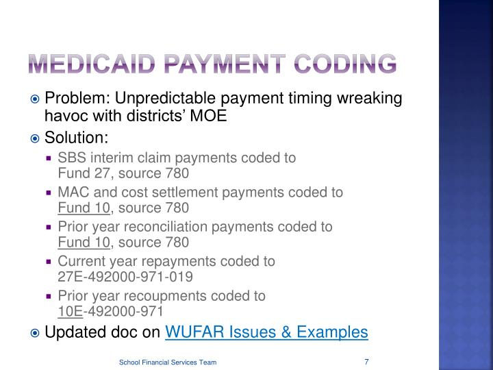 Medicaid Payment Coding