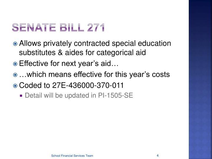 Senate Bill 271