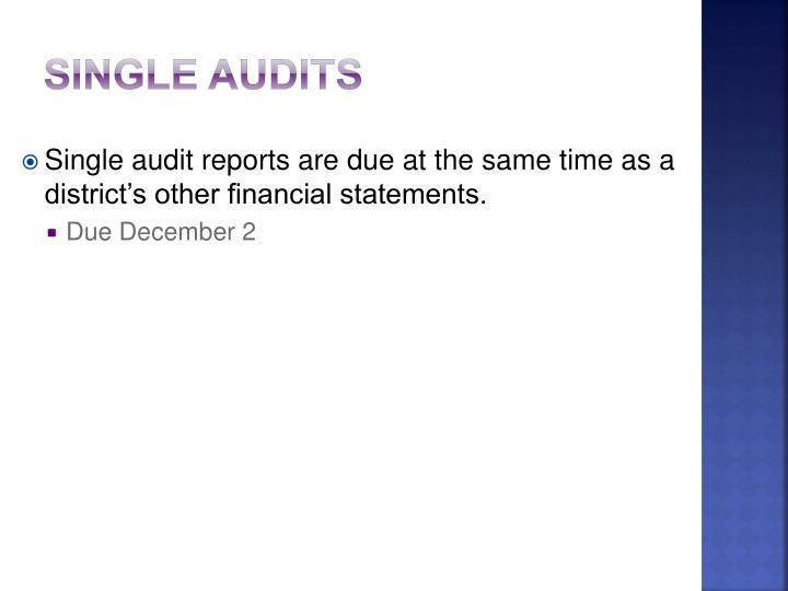 Single Audits