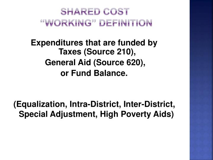SHARED COST
