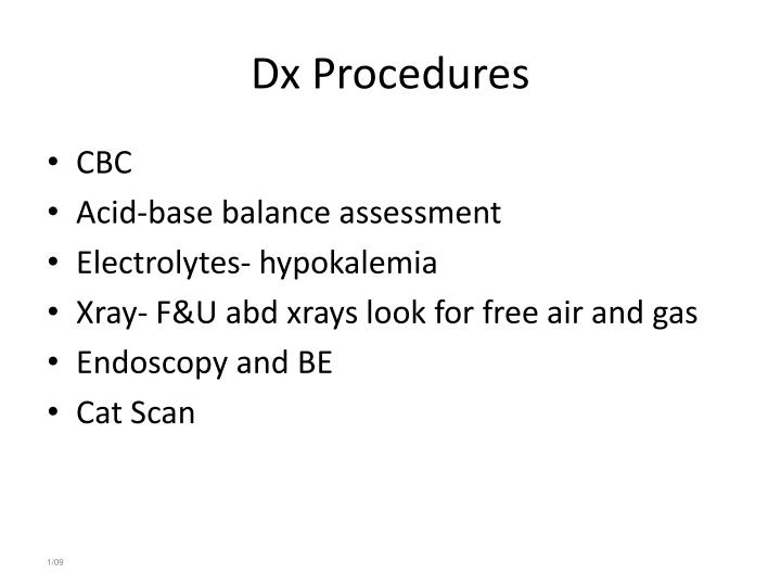 Dx Procedures