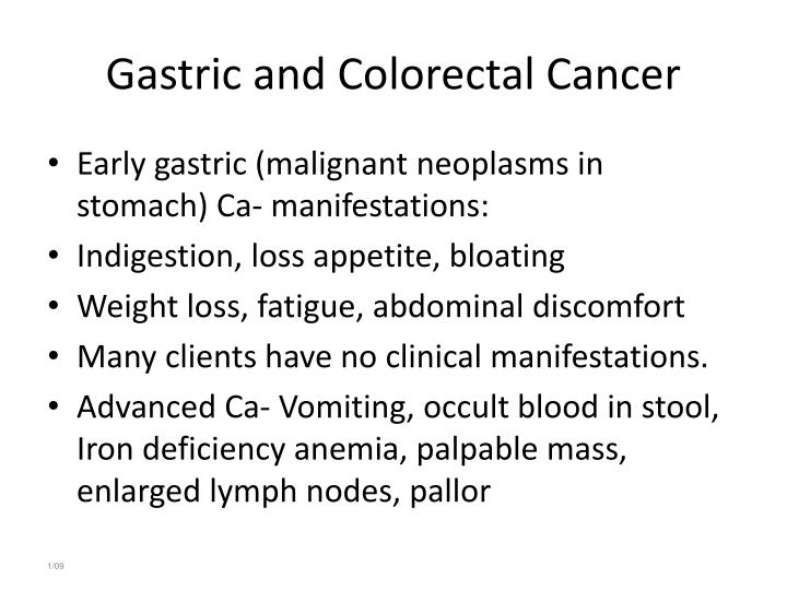 Gastric and Colorectal Cancer