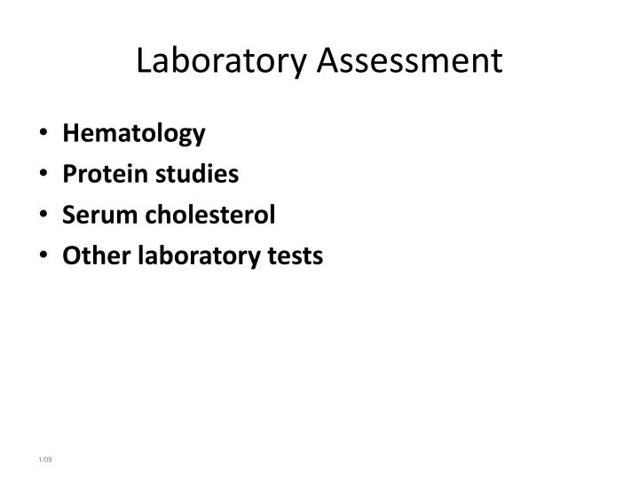Laboratory Assessment