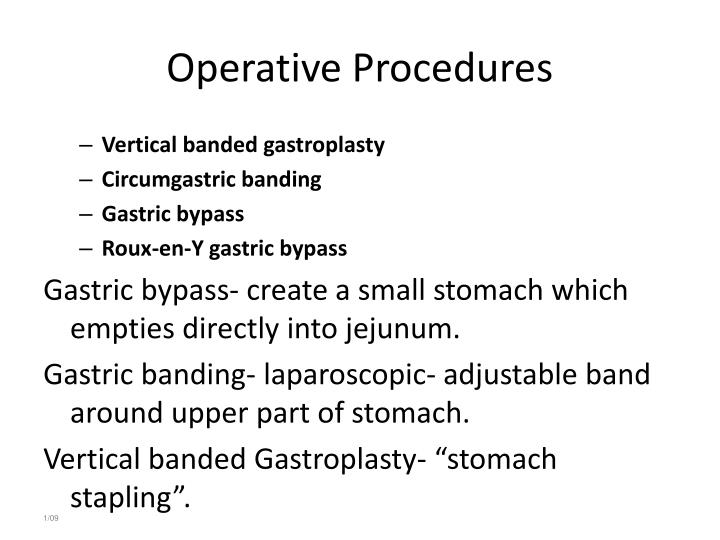 Operative Procedures