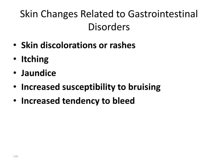 Skin Changes Related to Gastrointestinal Disorders