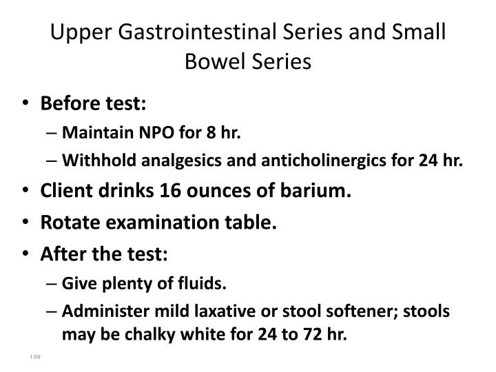 Upper Gastrointestinal Series and Small Bowel Series