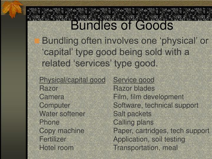 Bundles of Goods