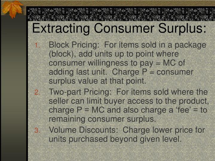 Extracting Consumer Surplus: