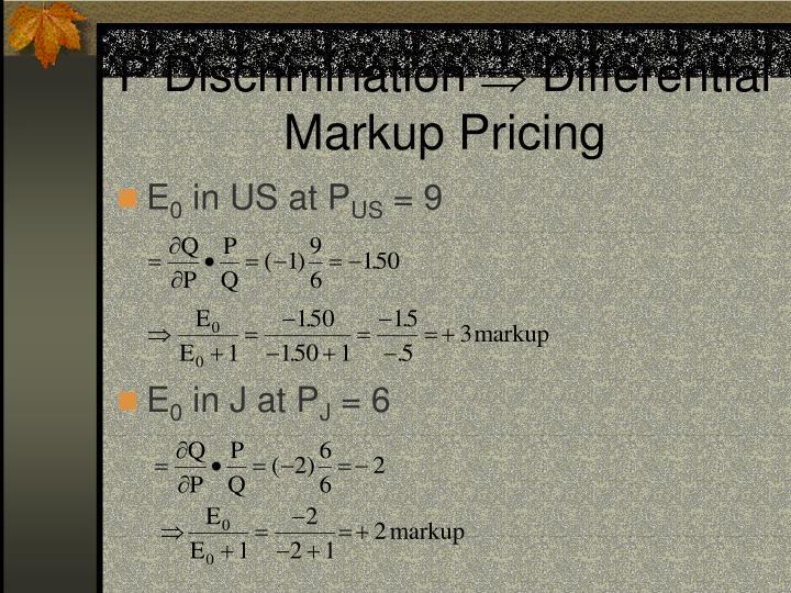 P Discrimination