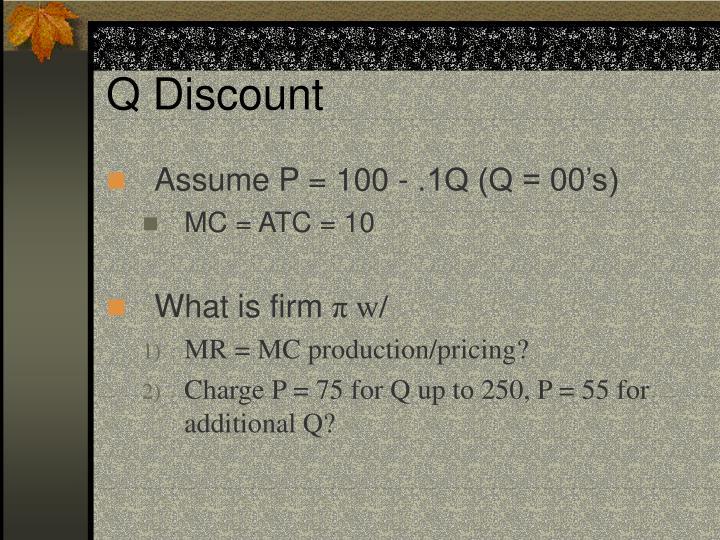 Q Discount