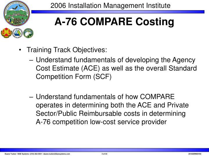 Training Track Objectives: