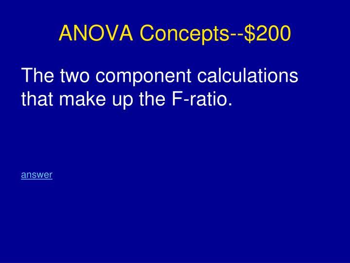 ANOVA Concepts--$200