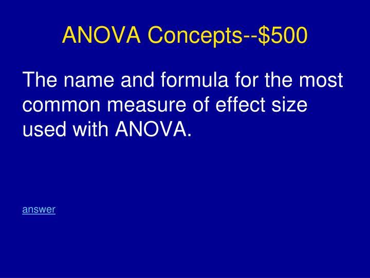 ANOVA Concepts--$500
