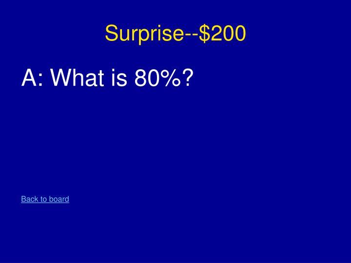 Surprise--$200
