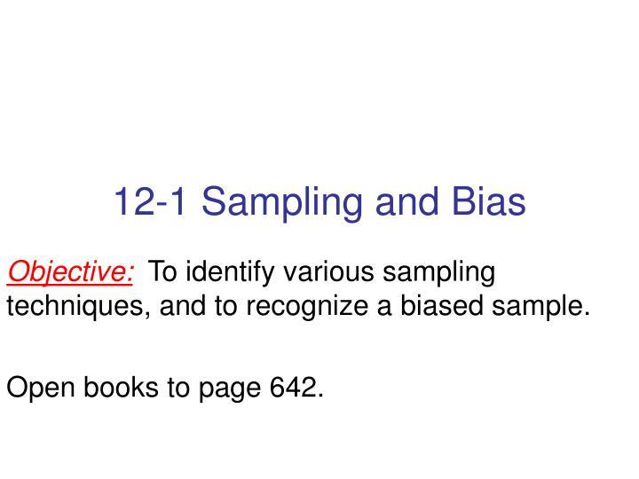 12-1 Sampling and Bias