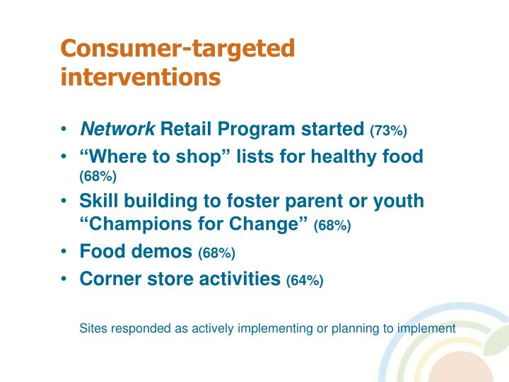 Consumer-targeted interventions
