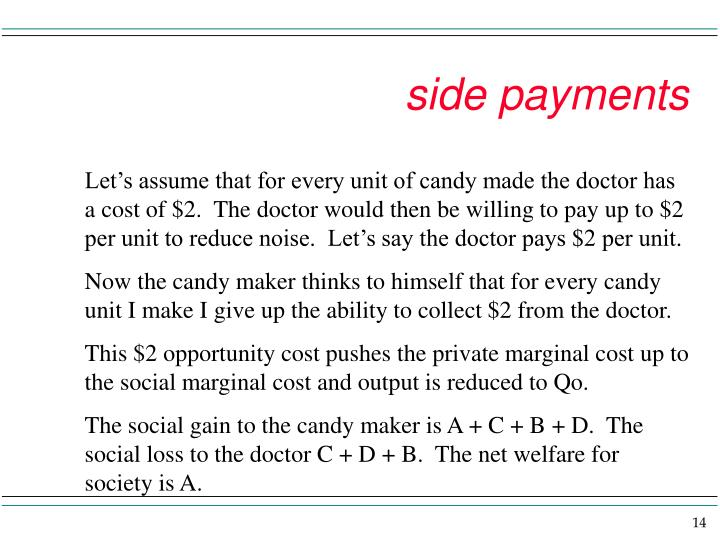 side payments