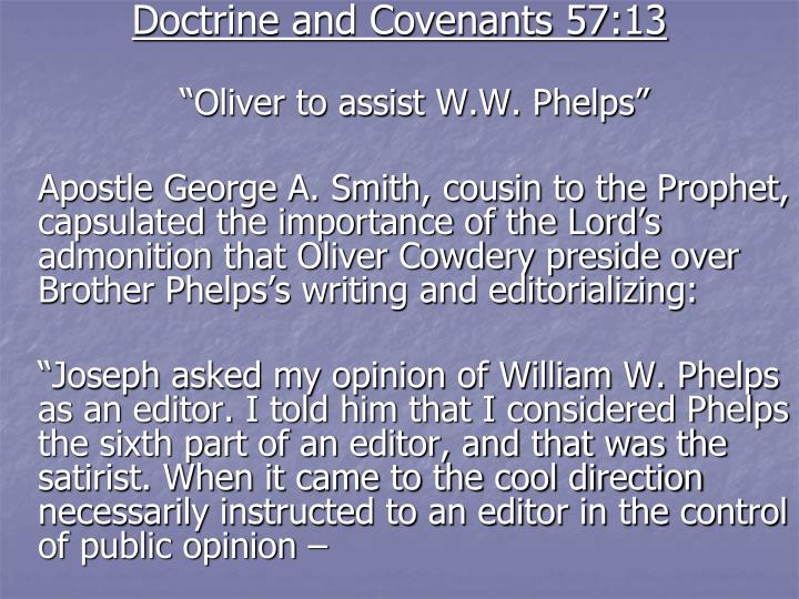 Doctrine and Covenants 57:13