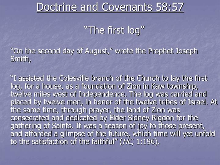 Doctrine and Covenants 58:57