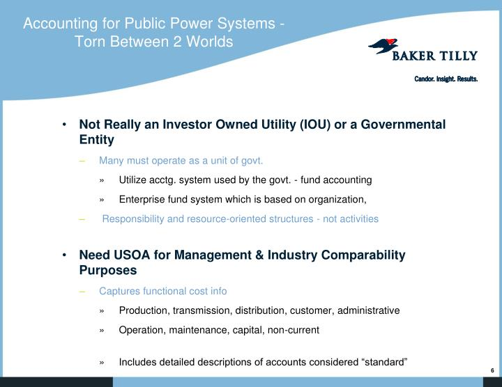 Accounting for Public Power Systems - Torn Between 2 Worlds