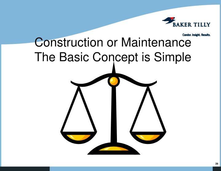 Construction or Maintenance
