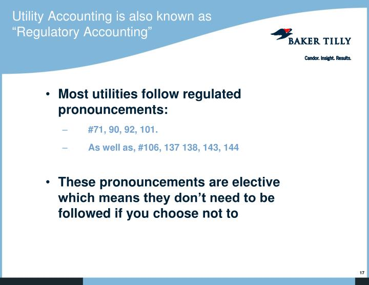 Utility Accounting is also known as