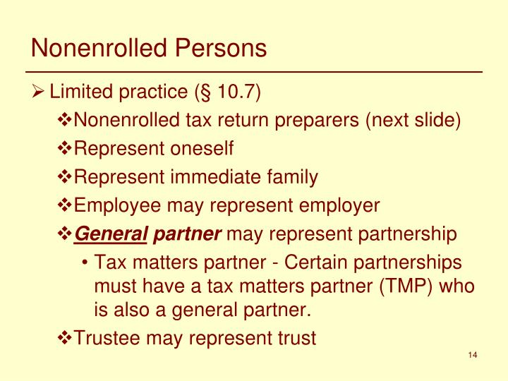 Nonenrolled Persons