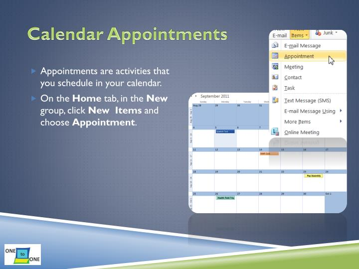 Calendar Appointments